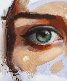 Eye painting with unique brush strokes by morse_illustration | Shared by @kitslam | #eye #painting #female #beauty