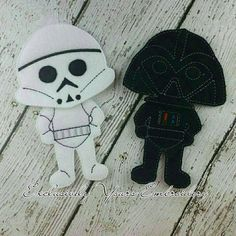 This listing is for one Galaxy Soldier Outfit and one Vader Outfit. These outfits fit all of the boy dolls in our Non Paper Doll collection.  Do you remember playing with paper dolls when you were growing up? This treasured concept is renewed in our Line of Non Paper Dolls! Each piece is made of felt on front and back.