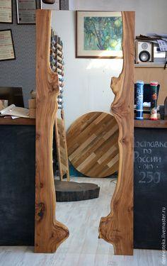 Купить Зеркало из карагача - зеркало, карагач, Мебель, интерьер, скандинавский стиль, золотой, карагач, массив
