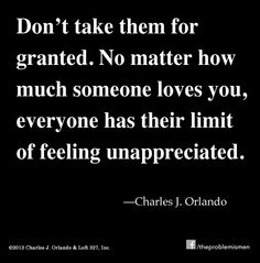 Taken for granted ...