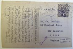 This neatly written postcard was penned by a conscientious objector named William Varley. You'll find other examples of his collected papers on this website, and they're definitely worth coming to visit. His story is both touching and intriguing. Conscientious Objector, Local History, Libraries, First World, World War, The Neighbourhood, Encouragement, Collections, Letters