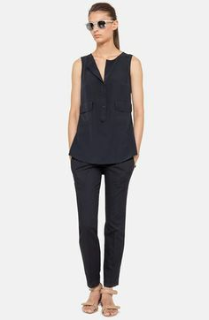 Akris punto Silk Blouse & Ankle Pants  available at #Nordstrom