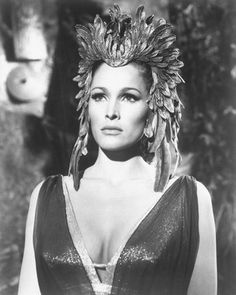 Ursula Andress in 'She' Remember watching this film and being really scared. Rachel Bright, Ursula Andress, Ancient Egypt, Headdress, Nostalgia, Film, People, Poster, Fictional Characters