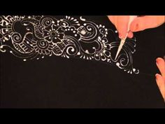 Creating designs on fabric with bleach. This could be really handy.