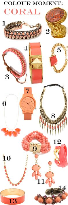 Colour Moment: Coral #summer #jewelry
