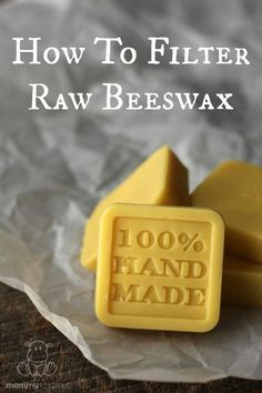 If you& lucky enough to know a local beekeeper, you may be able to pick up some raw, honey-scented beeswax with for a good price. Here& how to filter it for candle making and other purposes. Beeswax Recipes, Soap Recipes, Candle Making For Beginners, Beekeeping For Beginners, Potager Bio, Raising Bees, Bee Farm, Backyard Beekeeping, Beeswax Candles