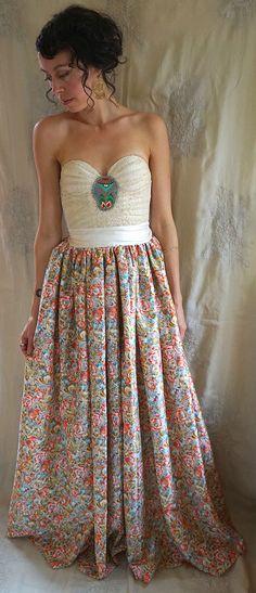 Mohn-Bustier Kleid... Hochzeit formale Korsett von jadadreaming