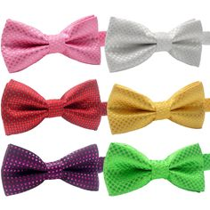 YOY Handcrafted Adorable Pet Bow Ties - 6-pack Adjustable Neck Tie 11.4'-18.5' Polka Dots Bowties Dog Collar Neckties Kitty Puppy Grooming Accessories for Doggy Cat, 6 Colors >>> Hurry! Check out this great product : Cat Collar, Harness and Leash