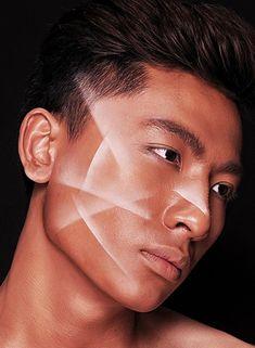 Pra fazer esse, só apoiar uma folha de papel no rosto e passar uma sombra em pó nas bordas, esfumando