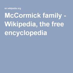 McCormick family - Wikipedia, the free encyclopedia