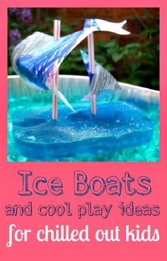 Ice boats and play ideas for chilled out kids - how cool is this boat?!