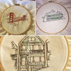SF embroidery kits by @meljleeson