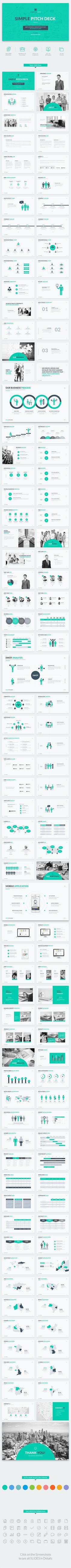 Food infographic  Simple Pitch Deck Keynote Template  Keynote KEY #best keynote template #templ