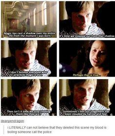 Deleted scene from Merlin. Ignore the comment as it would've been unnecessary exposition.