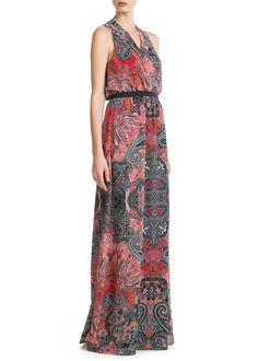 Paisley long dress