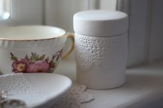 porcelain lace jar