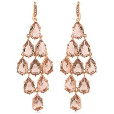 Carolee Rose Gold Pocket Park Chandelier Earrings ($95) ❤ liked on Polyvore featuring jewelry, earrings, rose gold, rose gold jewellery, rose gold chandelier earrings, sparkle jewelry, carolee jewelry and rose gold jewelry