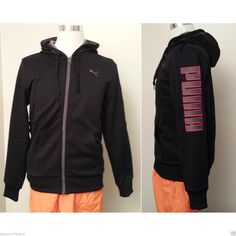 #PUMA men size S full zip hoodie black color (retail $65) visit our ebay store at  http://stores.ebay.com/esquirestore