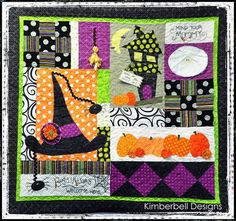 Home Is Where the Haunt Is - love this Halloween quilt! Halloween Sewing, Trendy Halloween, Halloween Projects, Halloween Ideas, Halloween Applique, Halloween Embroidery, Halloween Quilt Patterns, Halloween Quilts, Halloween Fabric