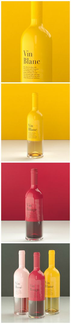 "Ali Sahba - The Colour of Aroma (Concept) #wine #packaging ""The main focus of this #design is to transport a very colourful (matched to the colour of the wine) and yet #minimalistic packaging to the consumer."""