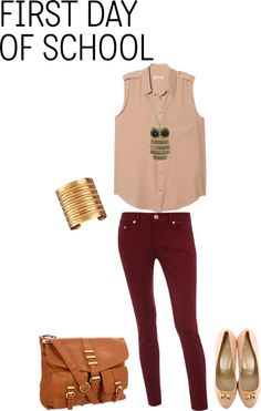 """First Day of School outfit"" by stylelover10 on Polyvore"