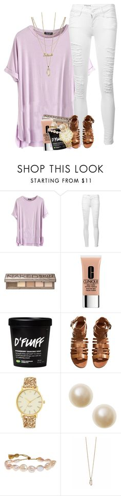 """so exited to get away for a week!!"" by ellaswiftie13 on Polyvore featuring Frame, Urban Decay, Clinique, H&M, Kate Spade, Lena Skadegard, Zoya and Monki"