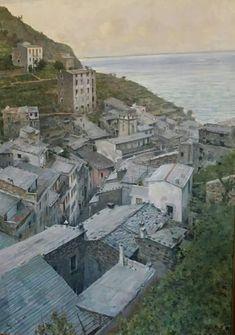 Telemaco Signorini  (Firenze, 1835 - 1901) Tetti a Riomaggiore, 1893 ca. Olio su tela, cm.85x56,5 Firenze, Galleria d'Arte Moderna di Palazzo Pitti