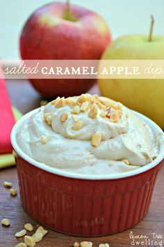 Ooh this Salted Caramel Apple Dip would make for a perfect fall dessert recipe. Honestly, it's a can't miss dessert dip that everyone will love. The flavors alone will keep you coming back for more.