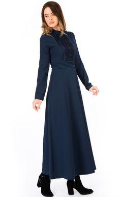 Abacı Saks Elbise 15E7074 - Elbise - Giyim - ABACI