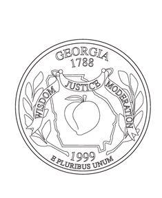 Georgia State Quarter Coloring Page
