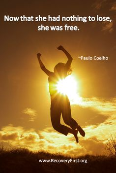 Addiction quote about Freedom by Paulo Coelho