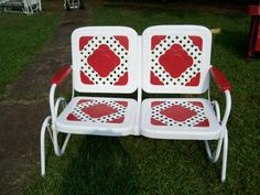 Two Seat Lawn Chairs Swivel Arm 75 Best Vintage Metal Chair Love Images Garden This Model Was Made By Bunting Glider Co