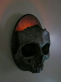 Items similar to Haunting Gothic Skull Sconce Candle Holder-Dirty Steel Finish on Etsy Skull Decor, Skull Art, Theme Halloween, Fall Halloween, Halloween Skull, Halloween Bedroom, Halloween Clothes, Costume Halloween, La Danse Macabre