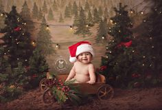 Cute Christmas mini session setup by Pebbles and Polka Dots Photography.
