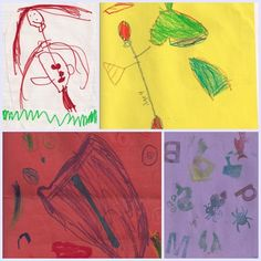 Combined artwork from my 4 year old students.