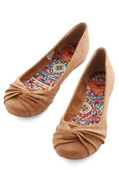 Knot Without You Flat in Cinnamon, #ModCloth $49.99