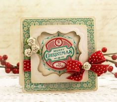 Spellbinders Labels 16, Waltzingmouse Stamps Very Vintage Labels no. 5 and Very Vintage Christmas stamp sets