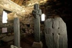 Keills Chapel, a small west highland chapel containing a sculptural feast of almost 40 carved stones, ranging in date from the 8th to the 16th century. Pre-eminent among them is the 8th-century Keills Cross.