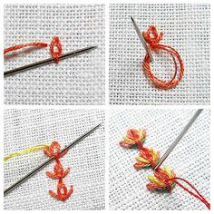Декоративные швы: как вышить тюльпаны. Мастер-класс