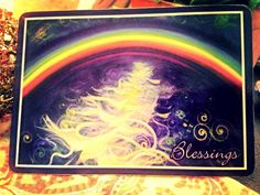 """Today's Angel Card Message is """"Blessings."""" The Angels say: Blessings! We are being showered with light. Our creativity is being stirred, activated, set alight! An endless stream of rainbow color stems from our hearts. ~ My Blessed Brothers & Sisters, with Spring coming this week, our passions will be awaken. New life and excitement, we will see just how blessed we really are! Gratitude is given. Namaste with Great Love & Light, I am Excited, Cindy xox cindyshealing.com"""