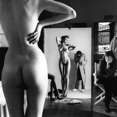 Helmut Newton, Self Portrait with Wife and Models, Vogue Studio, Paris, 1981