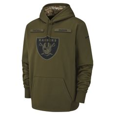 b373950c1bea Nike Therma Salute to Service (NFL Raiders) Men s Hoodie Size M (Olive  Canvas