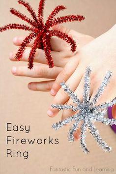 Easy fireworks rings