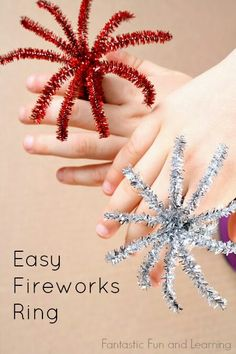 Easy fireworks rings