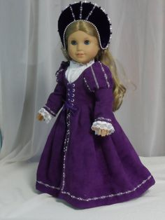 This young Tudor Princess is ready for travel! Tudor, Renaissance, Girl D, Medieval Clothing, Elegant Outfit, White Lace, American Girl, Etsy Store, Royalty