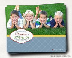 Custom - Photo Christmas Card  - JPEG Digital File - (Costco 7.5 x 6 template) Design5. $17.00, via Etsy.