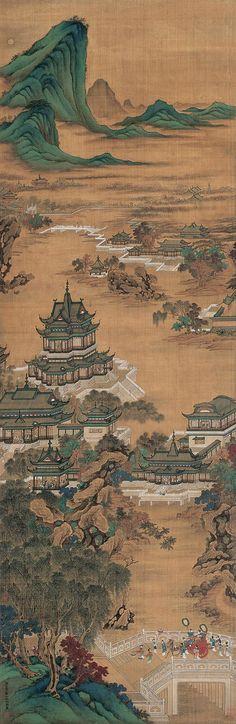 Qiu Ying(仇英) ,  汉宫秋月图