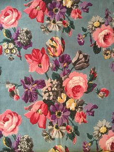Beautiful vintage cotton #sarahmoorehome.co.uk