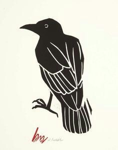 Super Ideas For Tattoo Feather Black Crows Ravens Crow Art, Raven Art, Bird Art, Art And Illustration, Crows Drawing, Crow Painting, Crows Ravens, Linoprint, Art Graphique