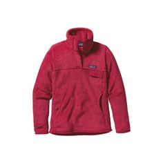 Women's Patagonia Re-Tool Snap-T Pullover 25442 Sweaters ($119) ❤ liked on Polyvore featuring tops, sweaters, pullover tops, thermal tops, pullover sweater, red pullover sweater and lightweight sweaters